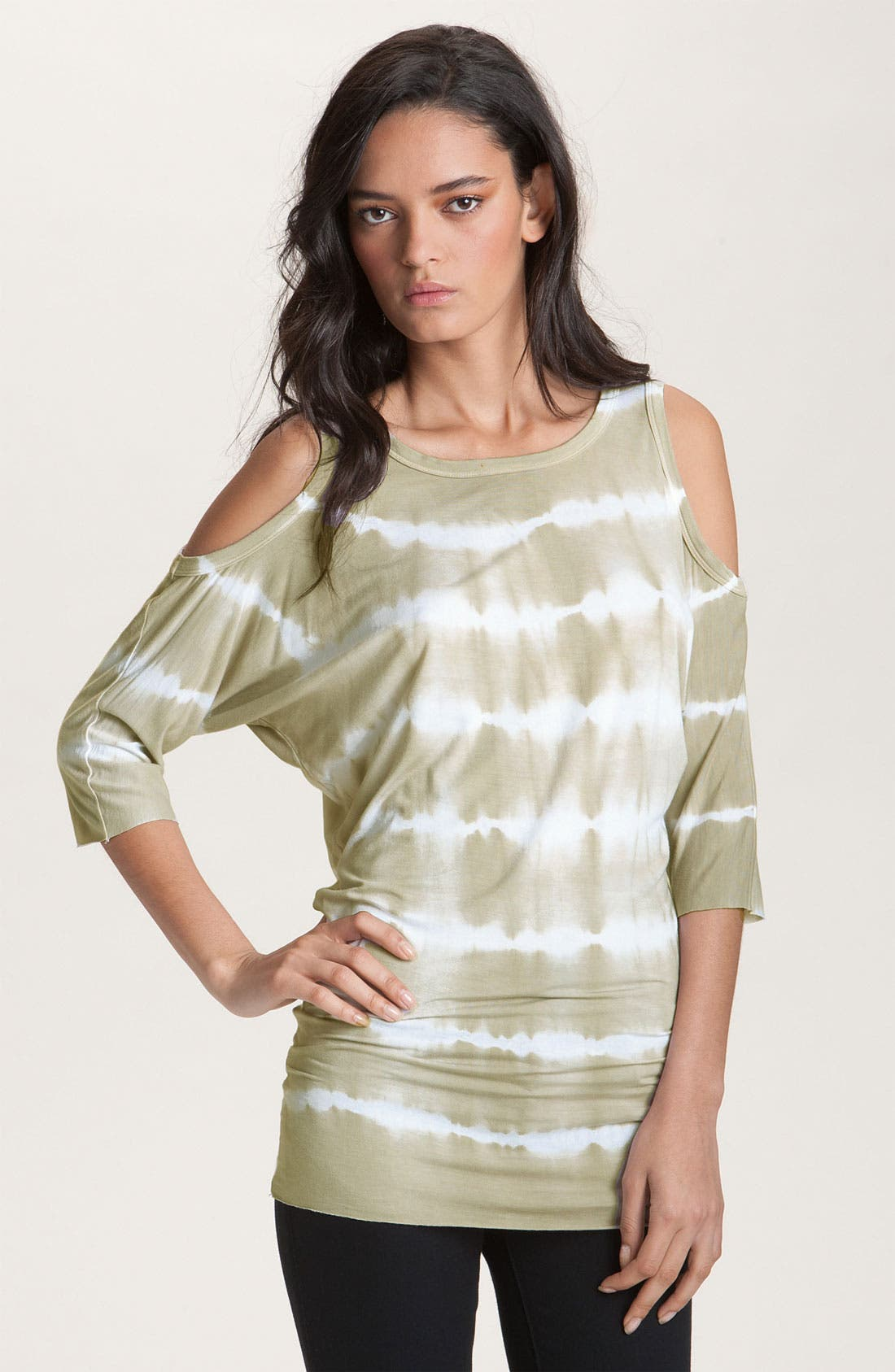 Alternate Image 1 Selected - Bailey 44 'Wildebeest' Cutout Shoulder Tie Dye Dolman Top