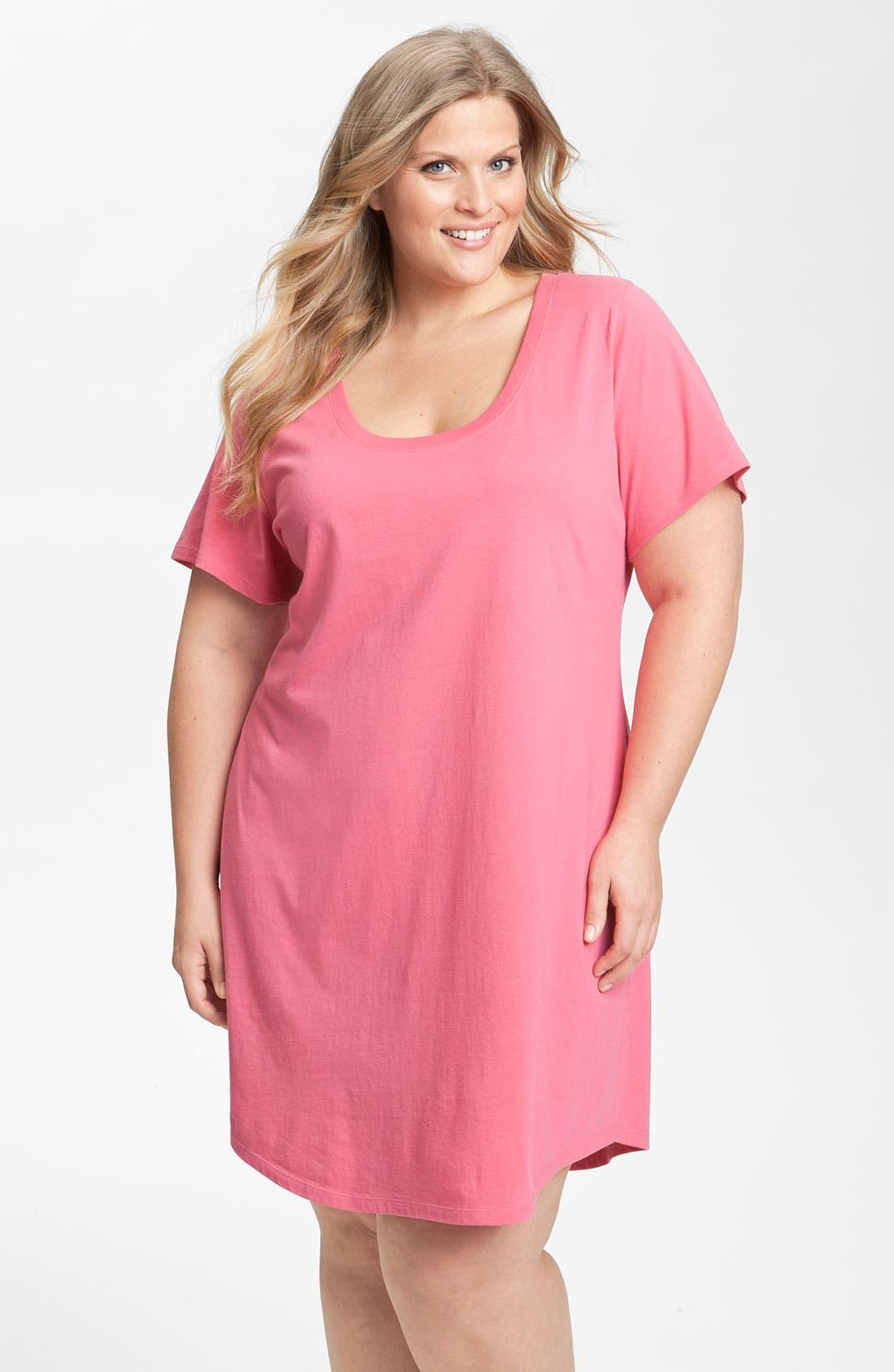 Alternate Image 1 Selected - Nordstrom Short Sleeve Sleep Shirt (Plus) (Online Exclusive)