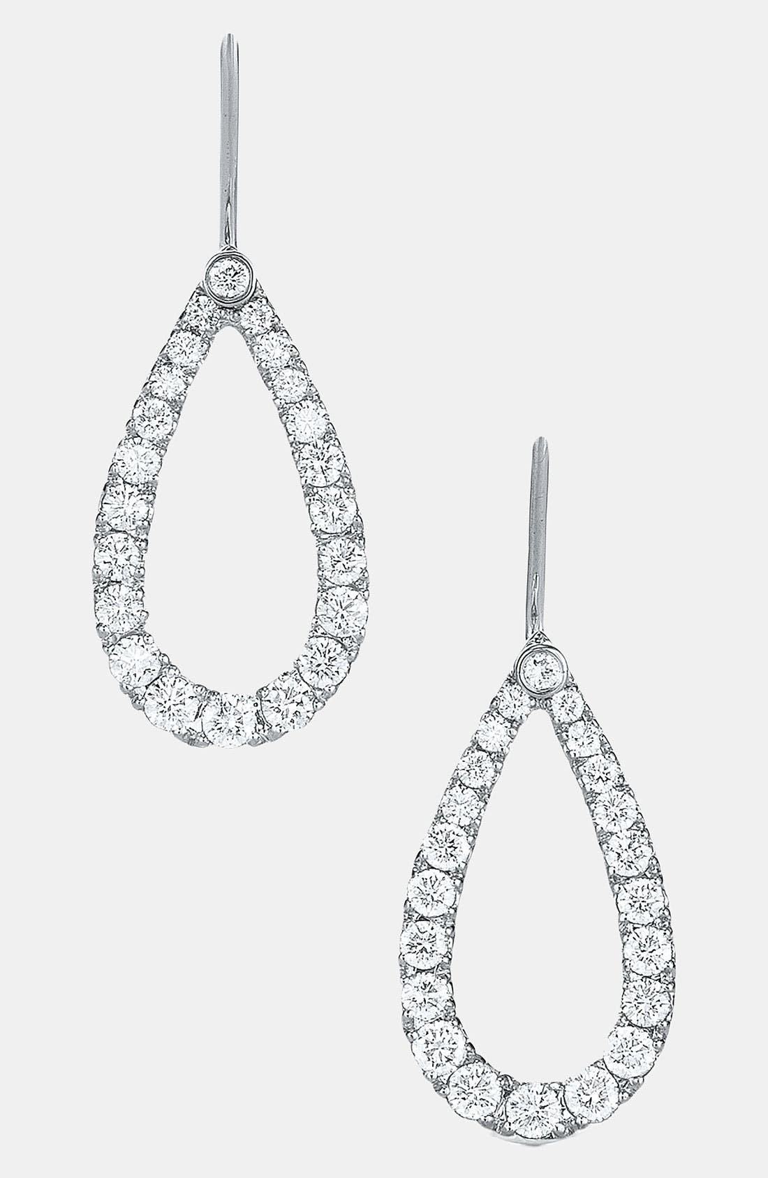 Alternate Image 1 Selected - Kwiat 'Contorno' Teardrop Diamond Earrings