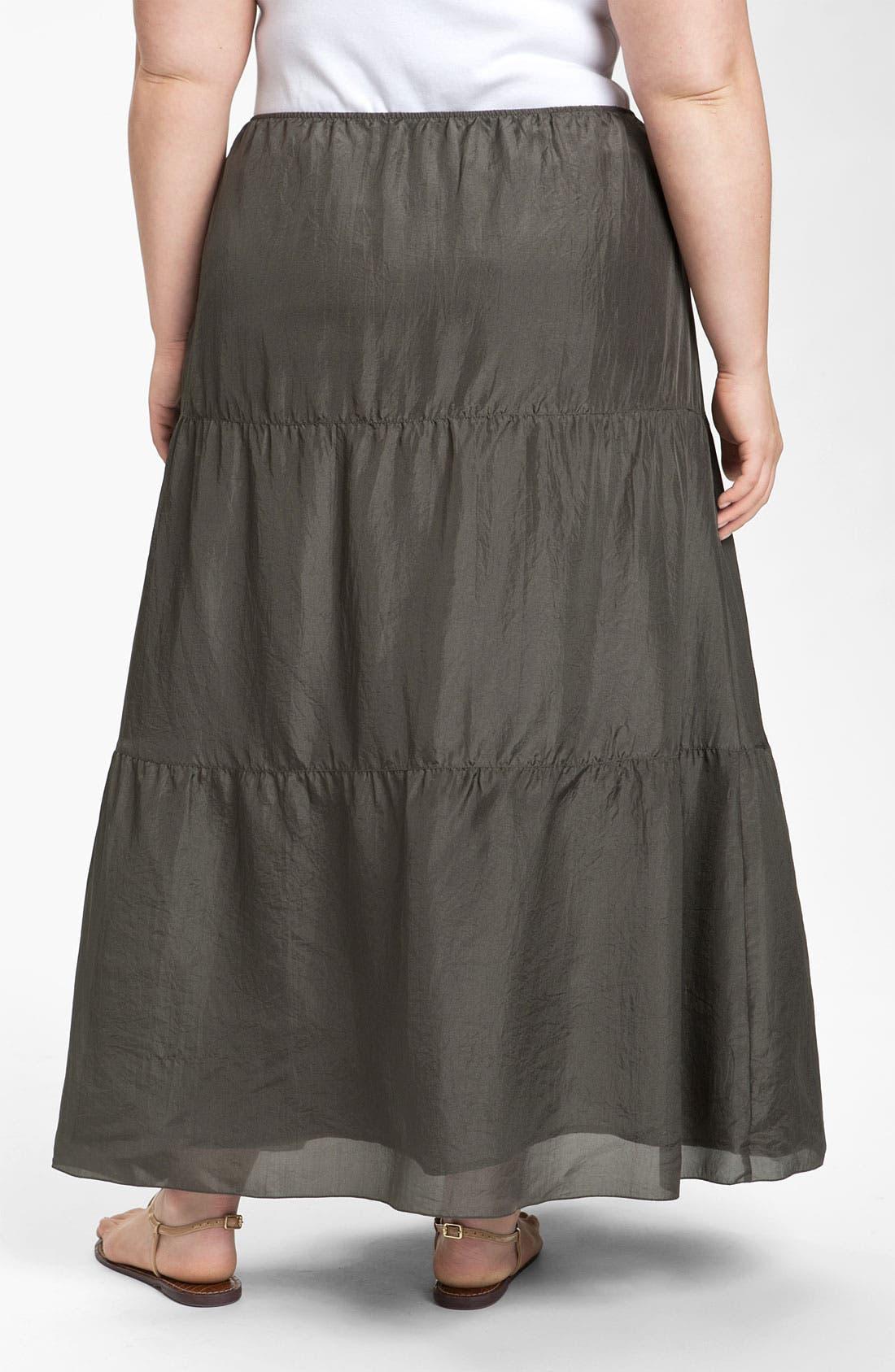 Alternate Image 2  - Eileen Fisher Silk Maxi Skirt (Plus)