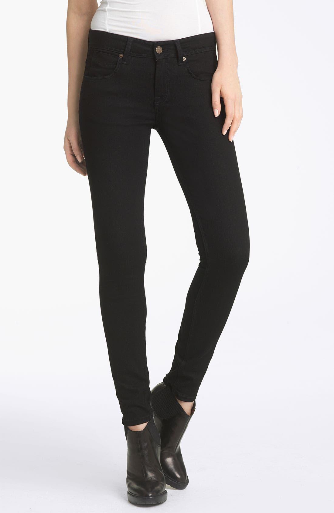 Alternate Image 1 Selected - Burberry Brit Zip Hem Slim Jeans