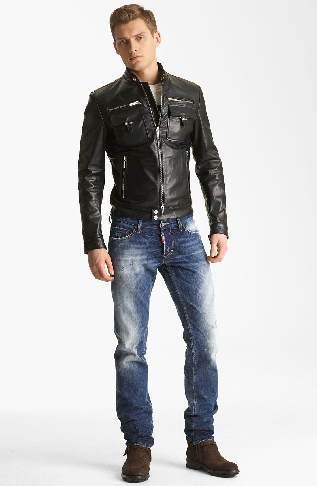Alternate Image 5  - Dsquared2 'Chic' Leather Moto Jacket