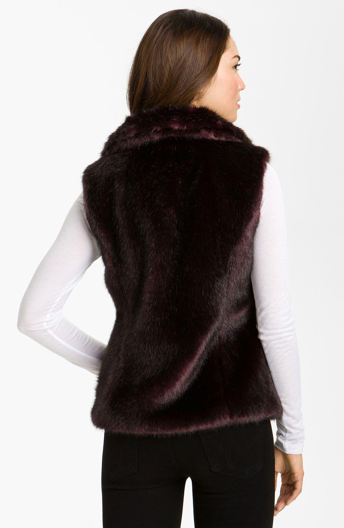 Alternate Image 2  - Gallery Reversible Faux Fur Vest