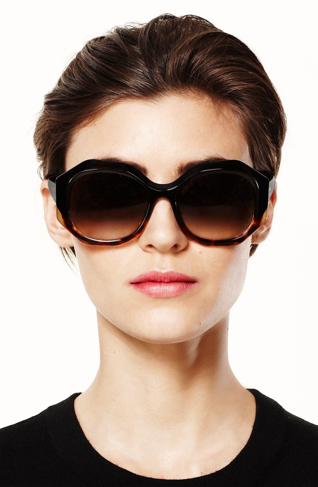 Alternate Image 2  - kate spade new york Oversized retro sunglasses