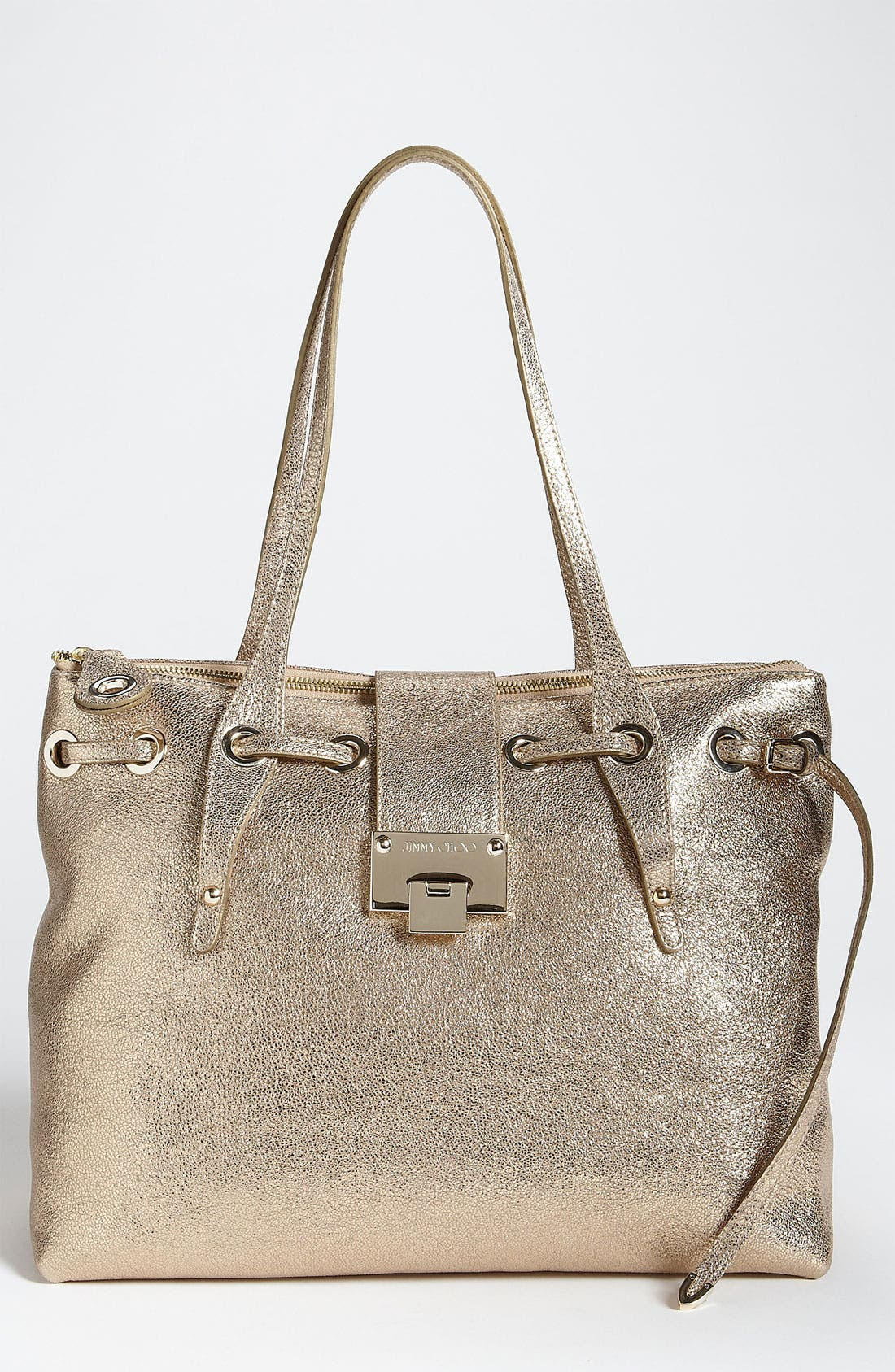 Main Image - Jimmy Choo 'Rhea' Glitter Leather Tote