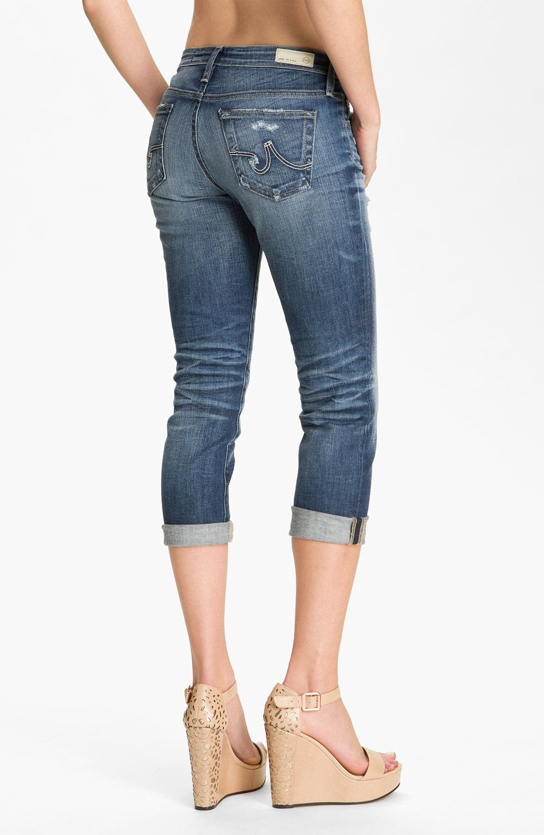 Alternate Image 2  - AG Jeans 'Stilt' Crop Skinny Jeans (15-Year Shred)