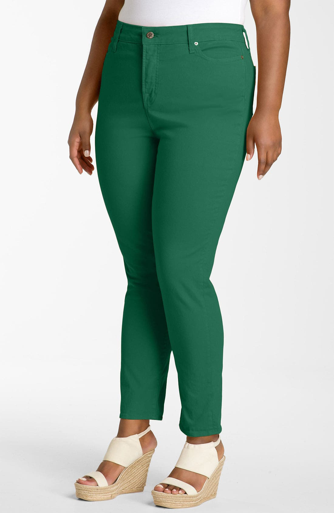 Colored Twill Skinny Jeans,                             Alternate thumbnail 2, color,                             Kelly