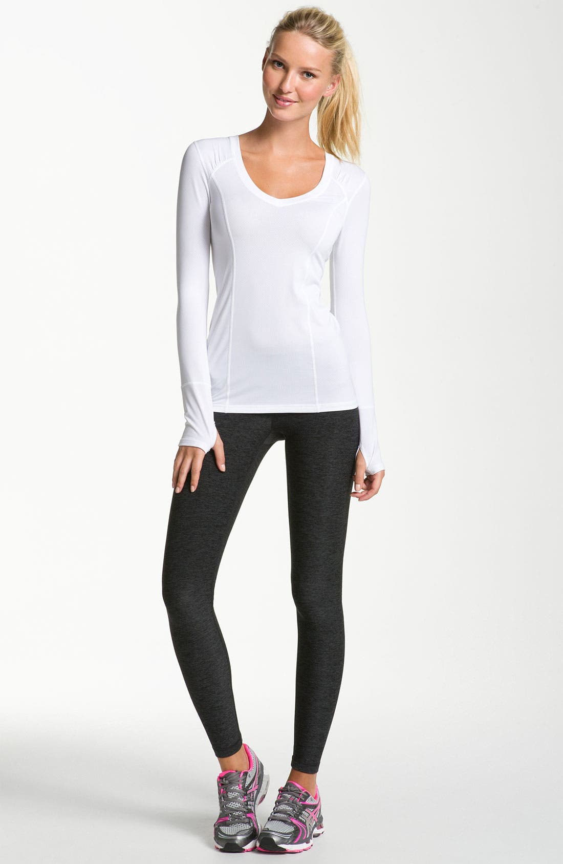 Alternate Image 4  - Zella Long Sleeve Pointelle Tee