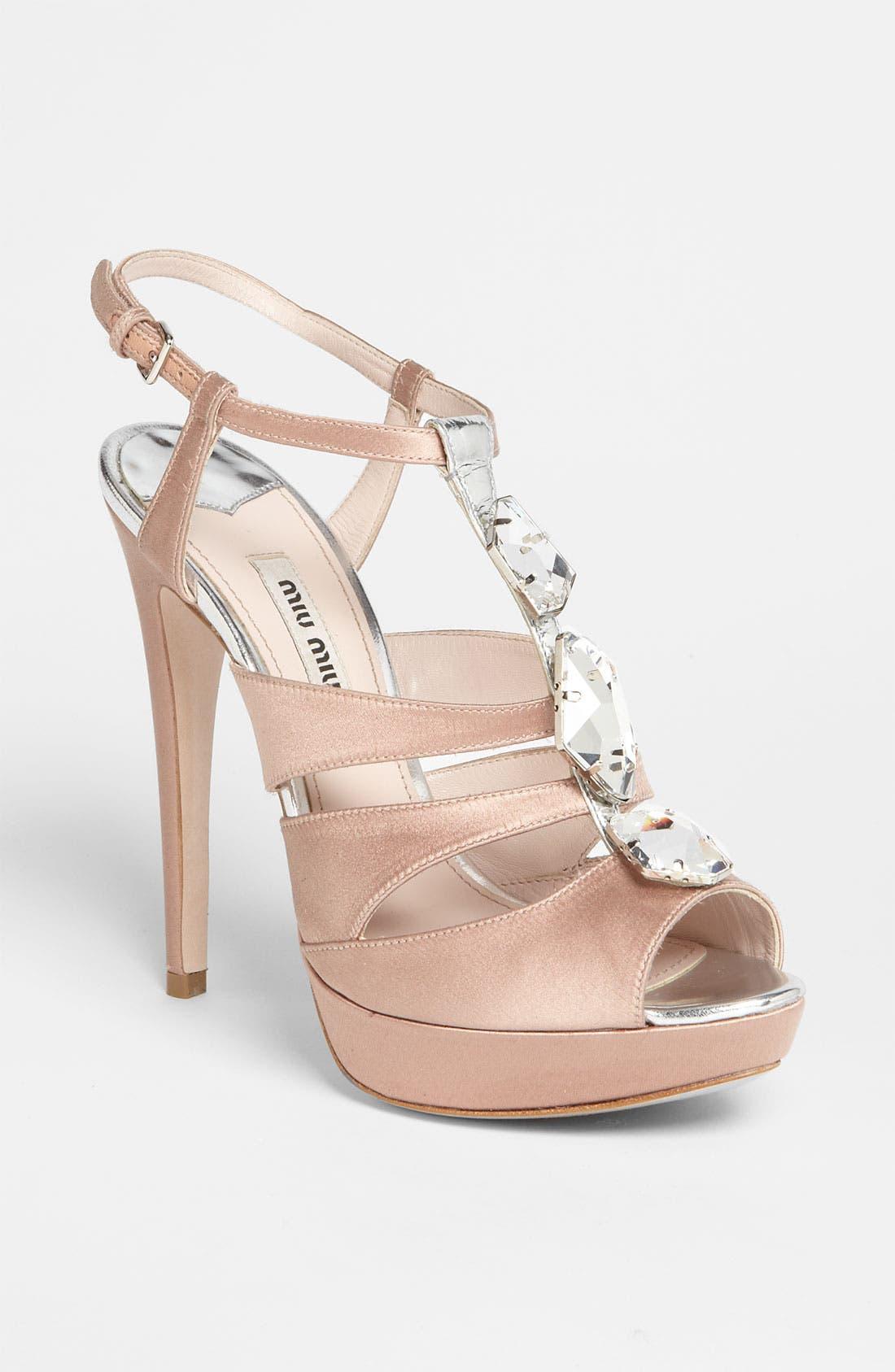 Main Image - Miu Miu Jeweled Sandal