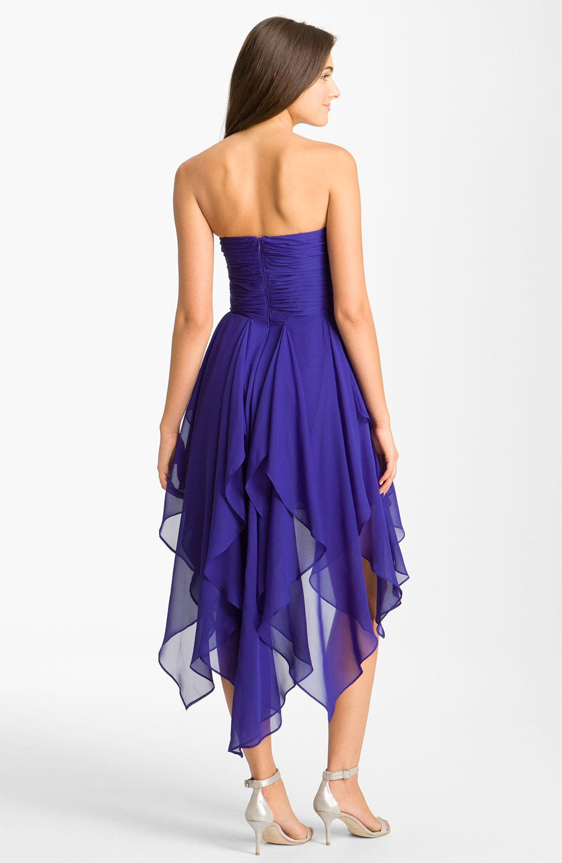 Alternate Image 2  - Hailey by Adrianna Papell Notched Bodice Chiffon Dress