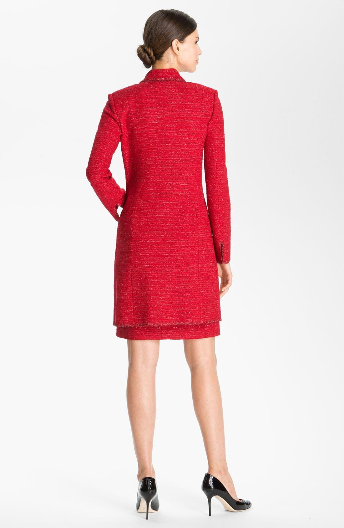 Alternate Image 4  - St. John Collection Ruby Tweed Sheath Dress