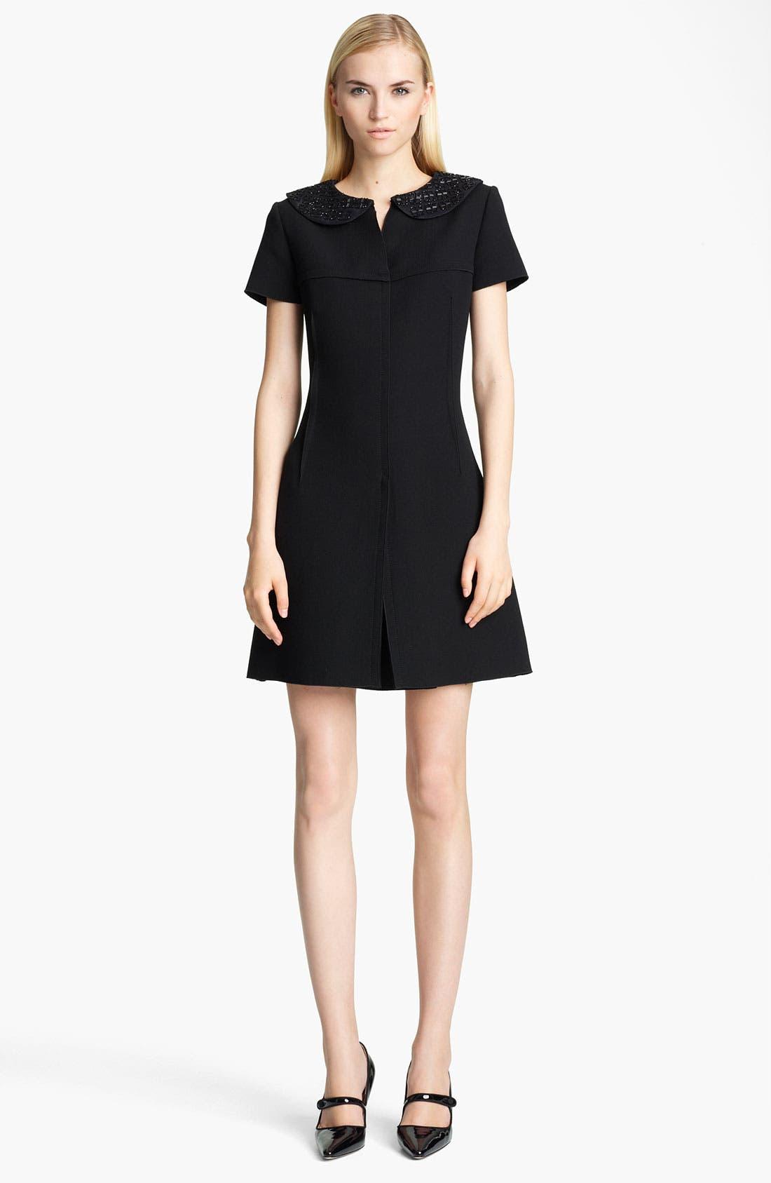 Main Image - Jil Sander Embellished Collar Dress