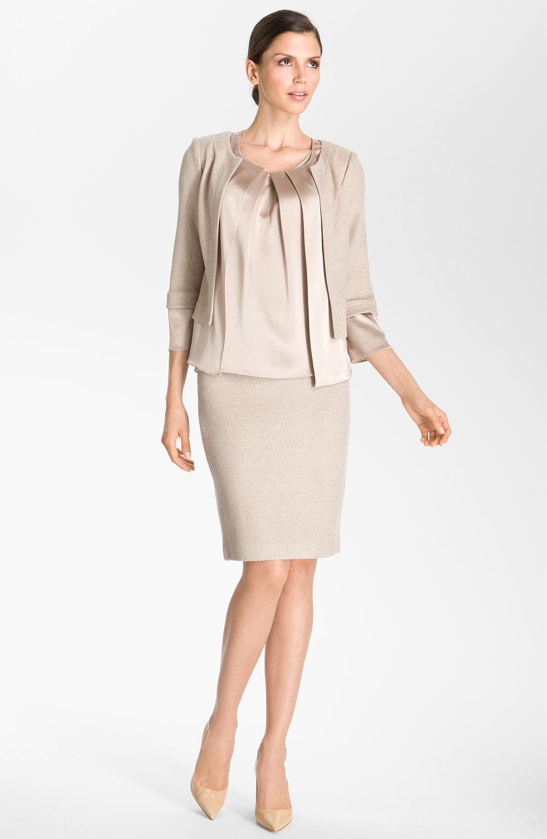 Alternate Image 1 Selected - St. John Collection Fitted Shimmer Knit Jacket