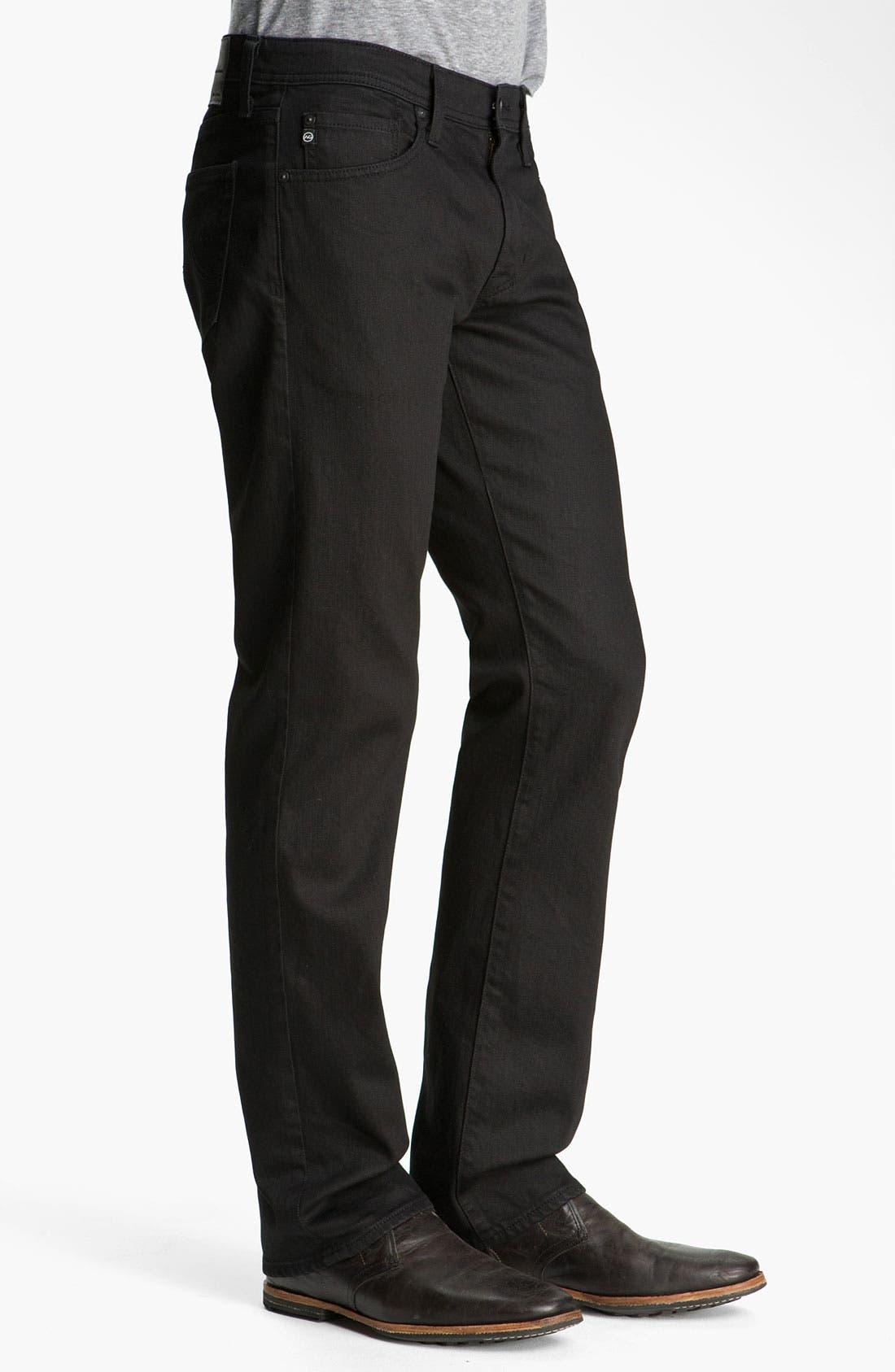 Alternate Image 3  - AG 'Protégé' Straight Leg Jeans (Black Overdye)