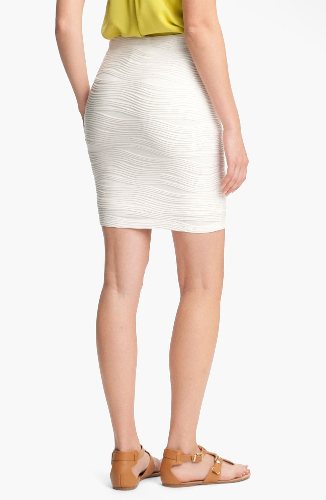 Alternate Image 2  - Lily White Textured Bandage Skirt (Juniors)