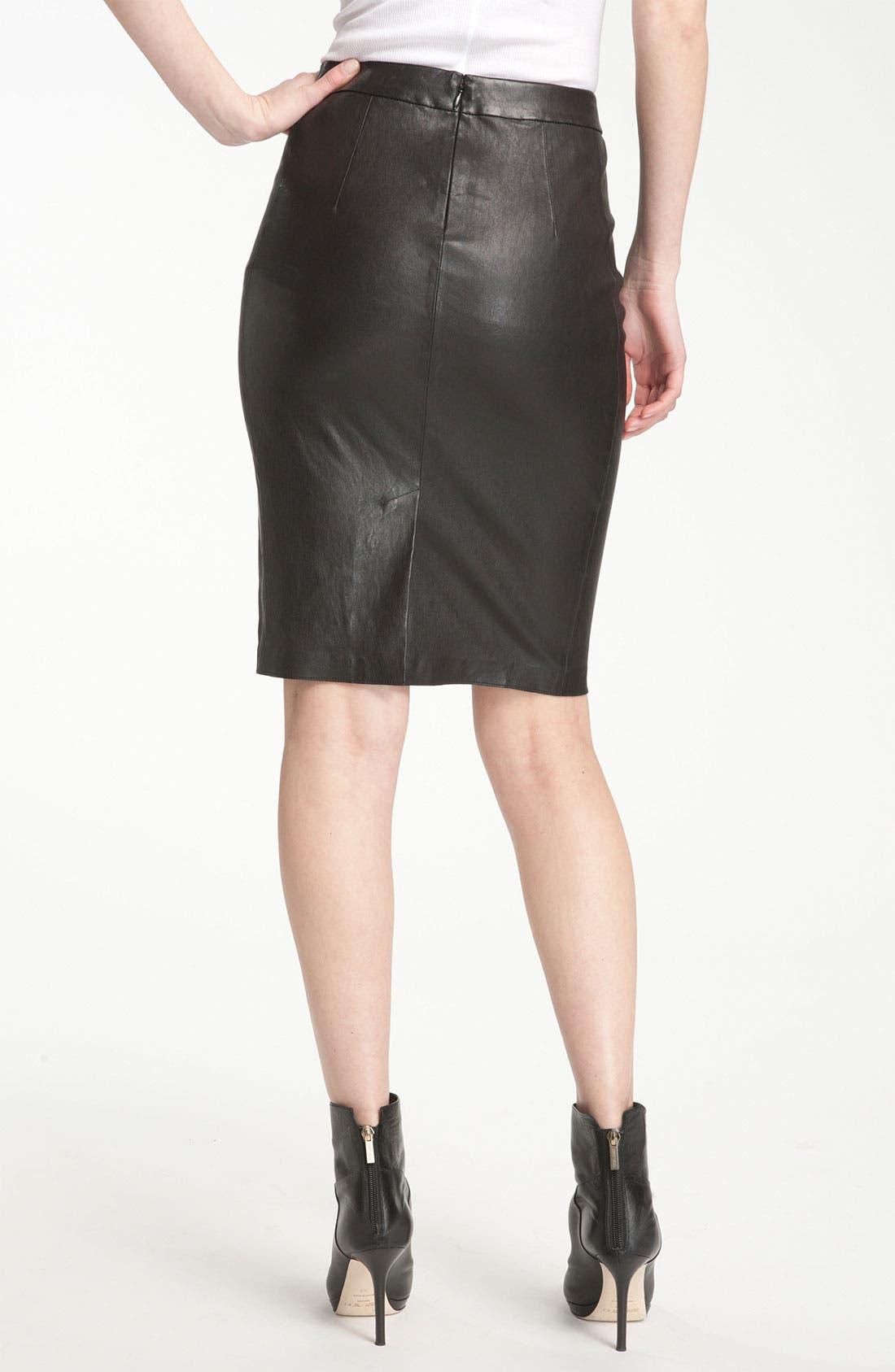 Alternate Image 2  - Vince Leather Pencil Skirt