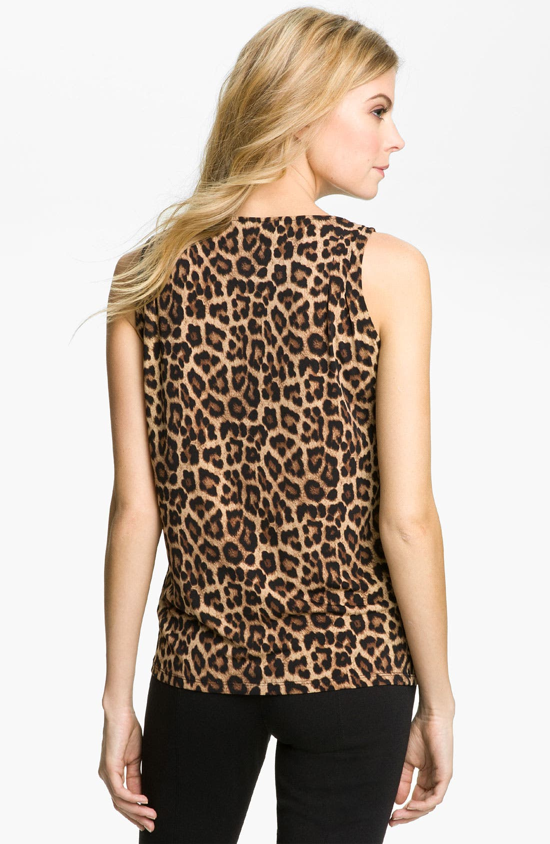 Alternate Image 2  - MICHAEL Michael Kors Jaguar Print Cowl Neck Top (Petite)