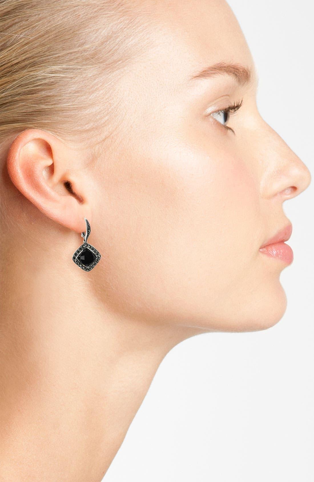Alternate Image 2  - Judith Jack 'Luster Onyx' Drop Earrings