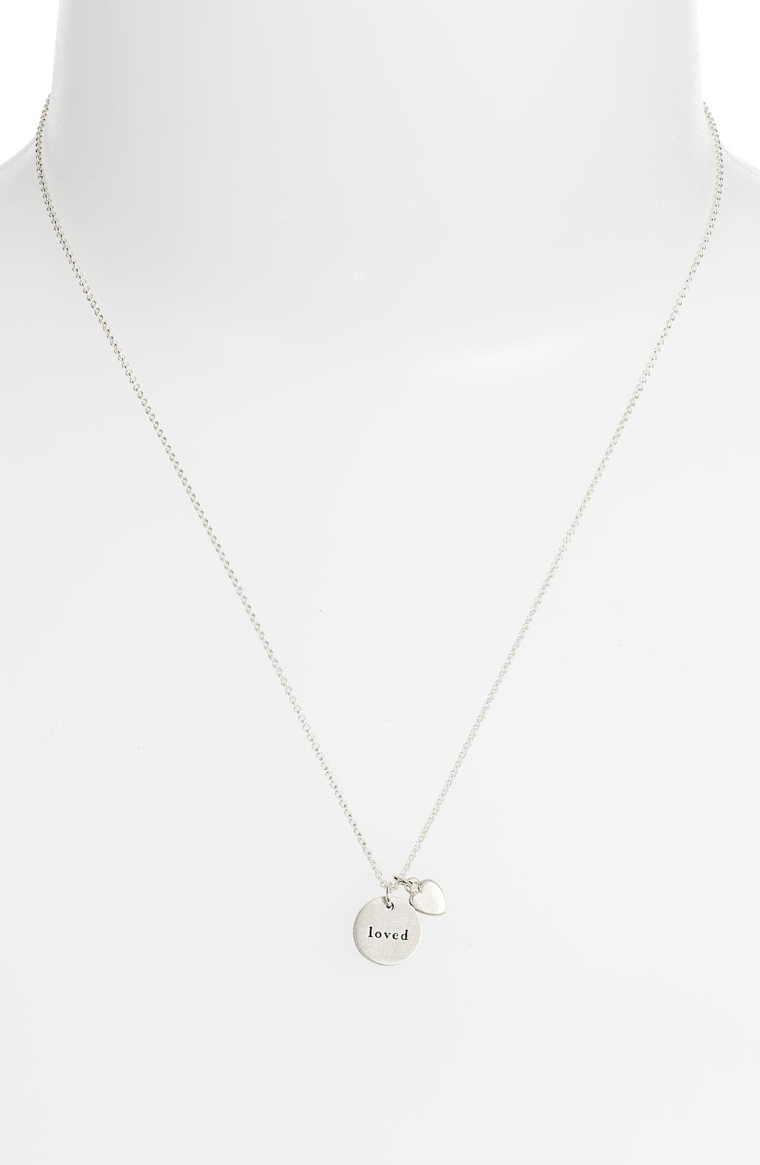 Alternate Image 2  - Dogeared 'Mom Loved - Heart' Pendant Necklace (Nordstrom Exclusive)