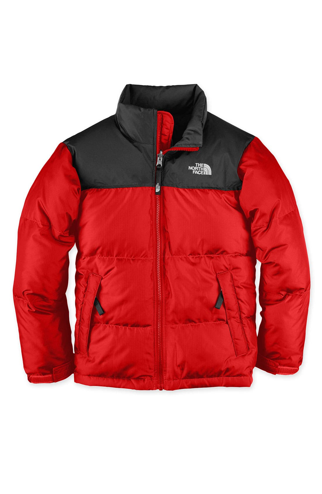 'Nuptse' 550-Fill Down Jacket,                         Main,                         color, Fiery Red/ Black