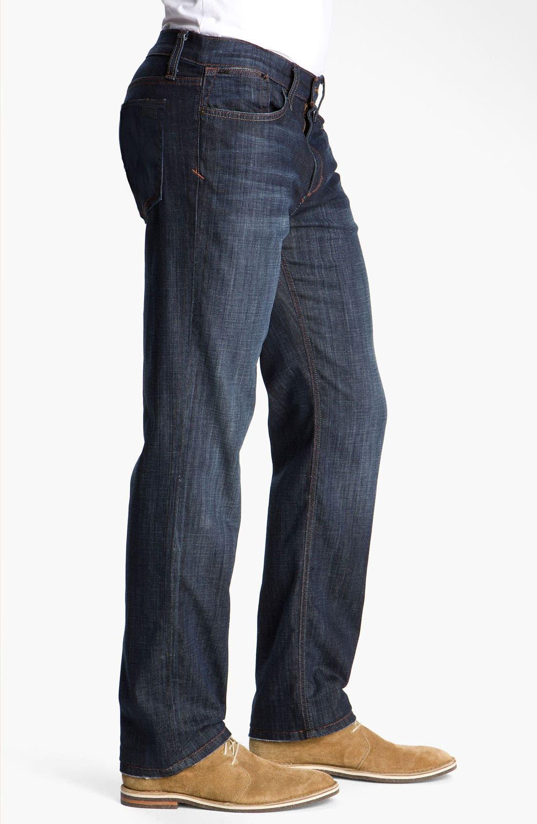 'Classic' Straight Leg Jeans,                             Alternate thumbnail 3, color,                             Dixon