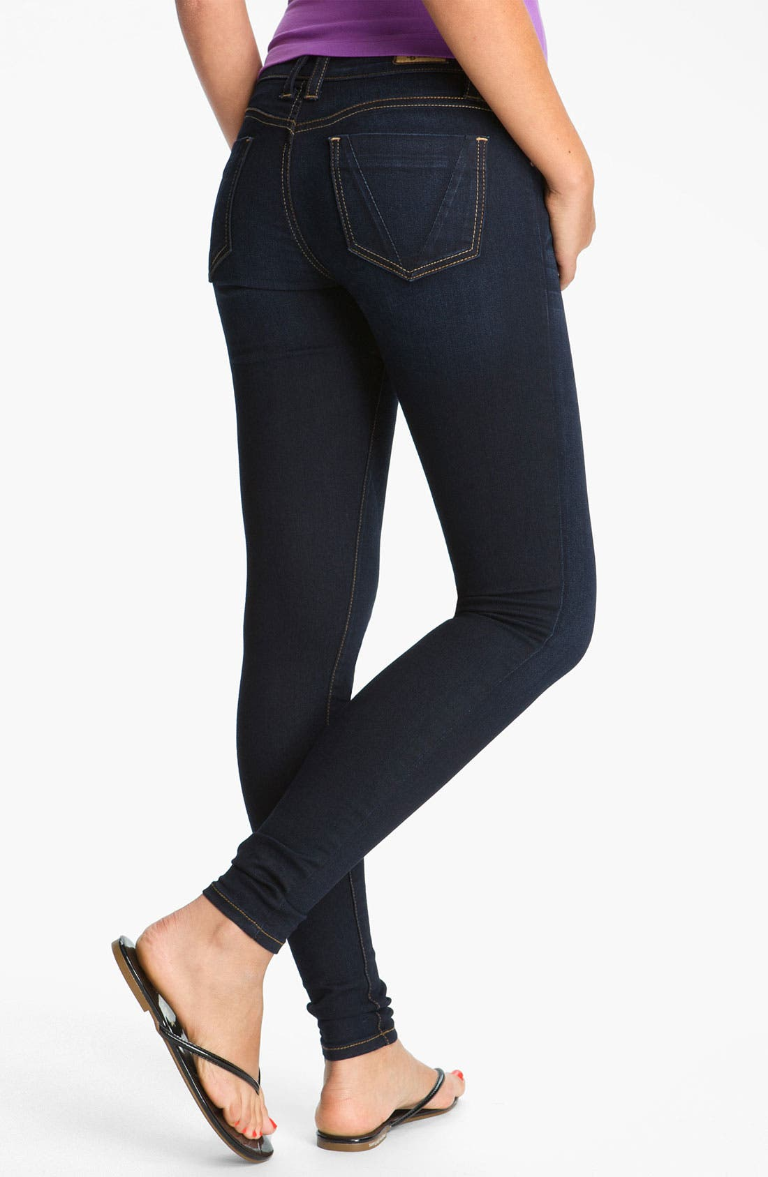 Alternate Image 2  - STS Blue Skinny Jeans (Brisbane Dark) (Juniors) (Online Only)