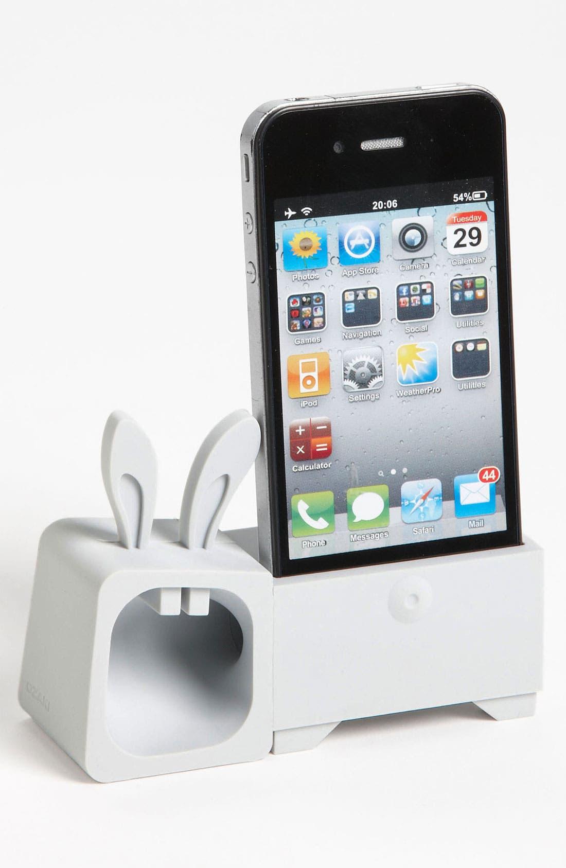Main Image - Ozaki 'O! Music Zoo - Rabbit' iPhone 4 & 4S Stand & Amp