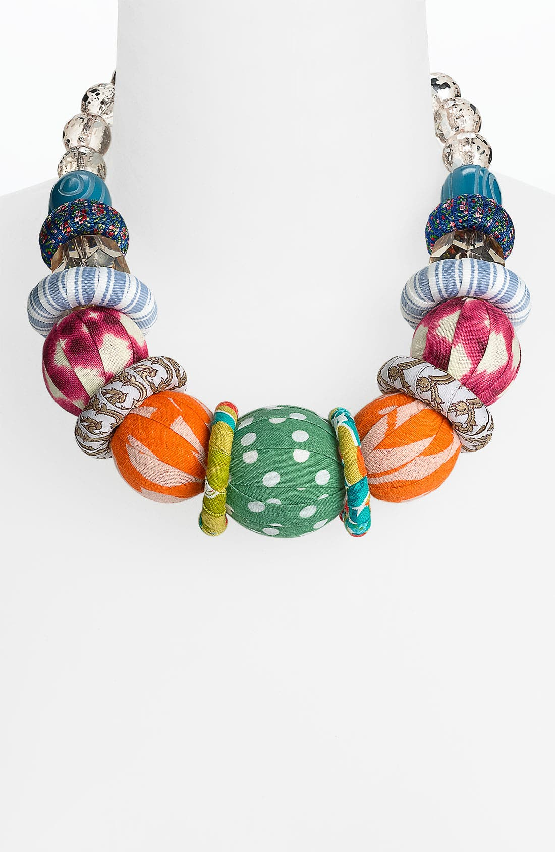 Main Image - Lenora Dame Fabric Ball Statement Necklace