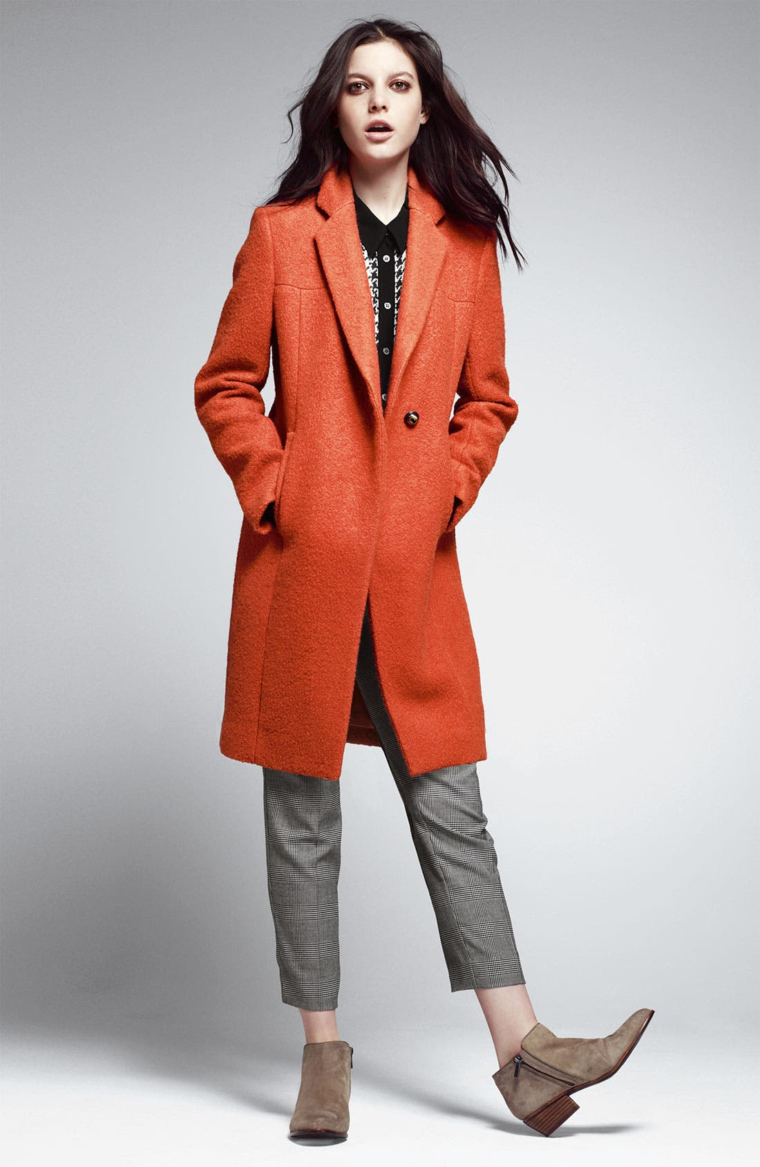 Alternate Image 4  - Kenneth Cole New York Notch Collar Bouclé Coat