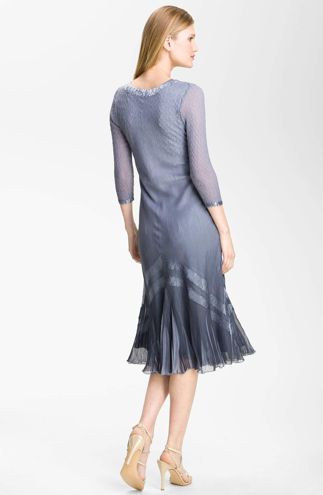 Alternate Image 2  - Komarov Embellished Three-Quarter-Sleeve Chiffon Dress