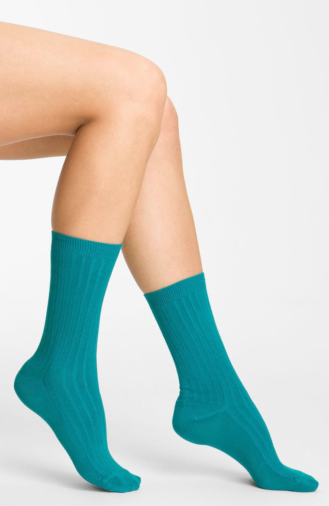 Alternate Image 1 Selected - Nordstrom Rib Crew Socks