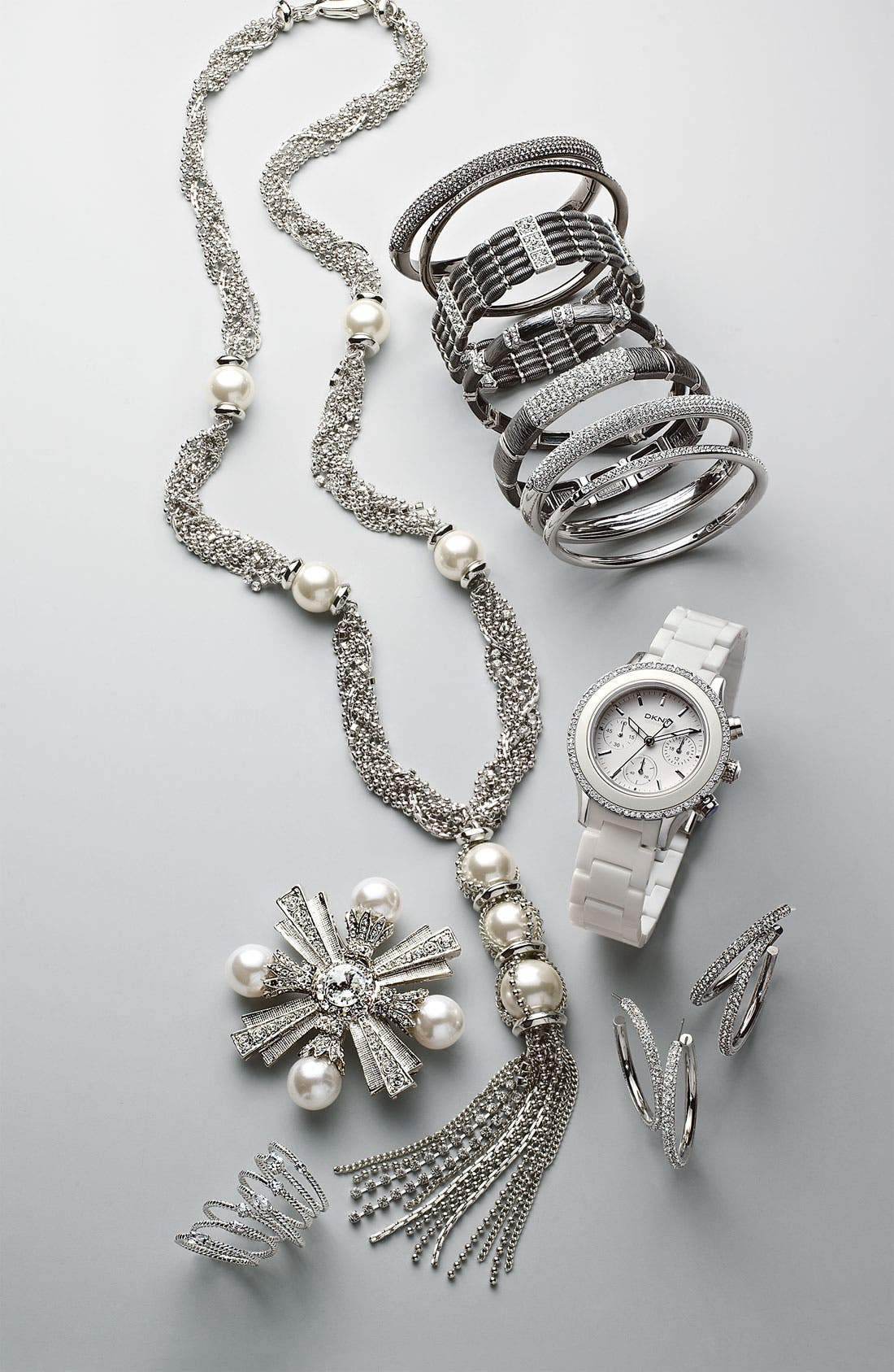 Alternate Image 3  - DKNY 'Westside' Ceramic Bracelet Watch