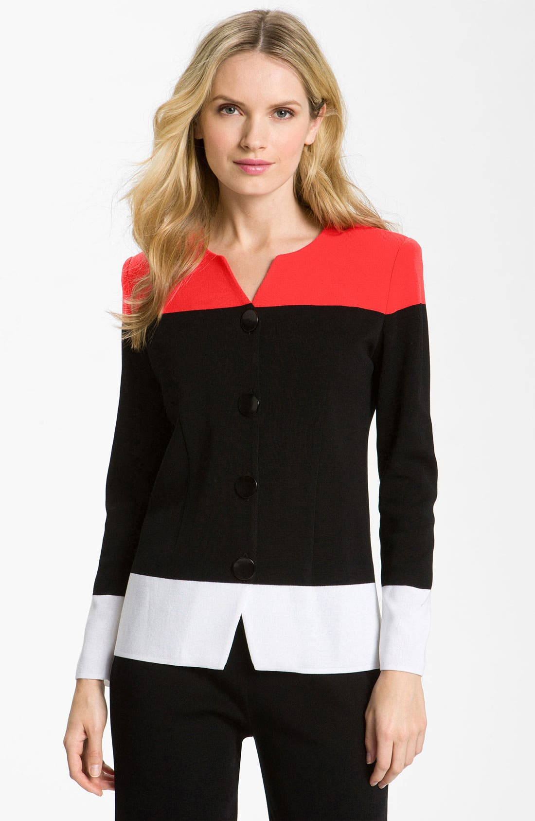 Alternate Image 1 Selected - Exclusively Misook Colorblock Jacket