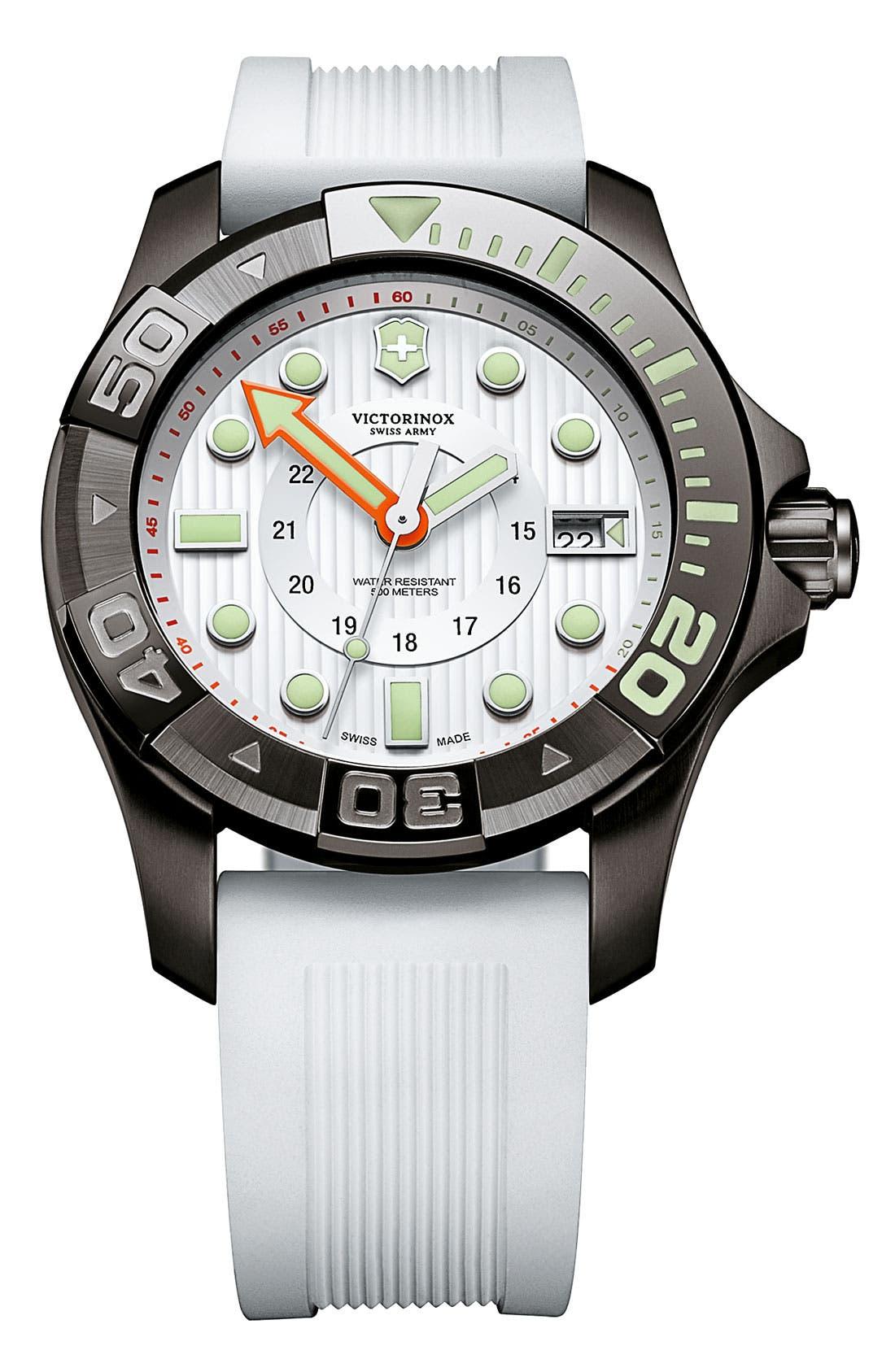 Alternate Image 1 Selected - Victorinox Swiss Army® 'Dive Master' Gunmetal Strap Watch, 43mm