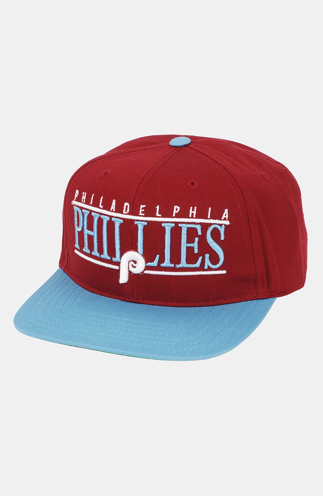 Main Image - American Needle 'Philadelphia Phillies - Nineties' Twill Snapback Baseball Cap