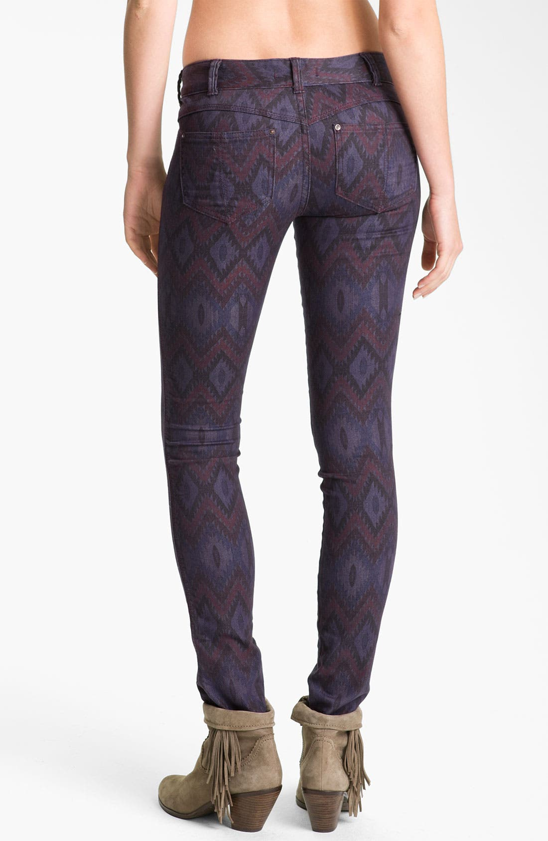Alternate Image 2  - Free People Ikat Print Skinny Jeans