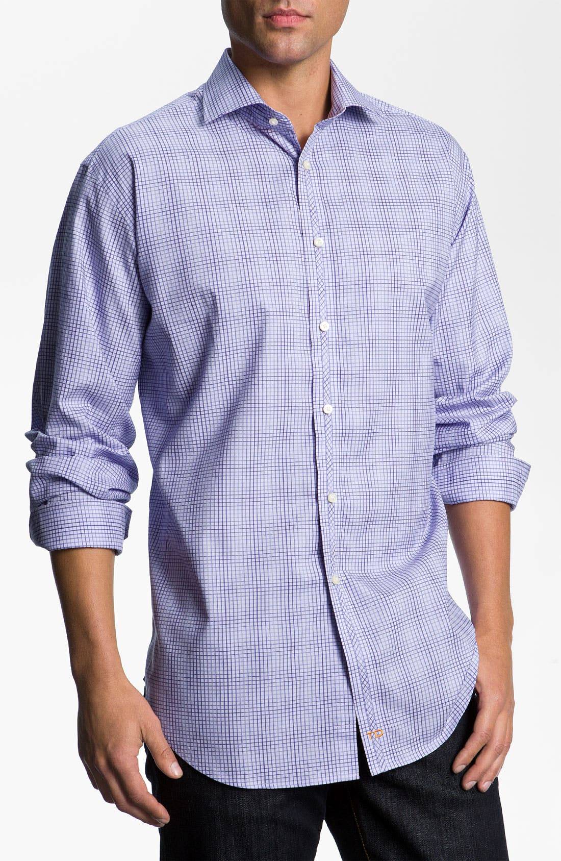 Main Image - Thomas Dean Check Sport Shirt