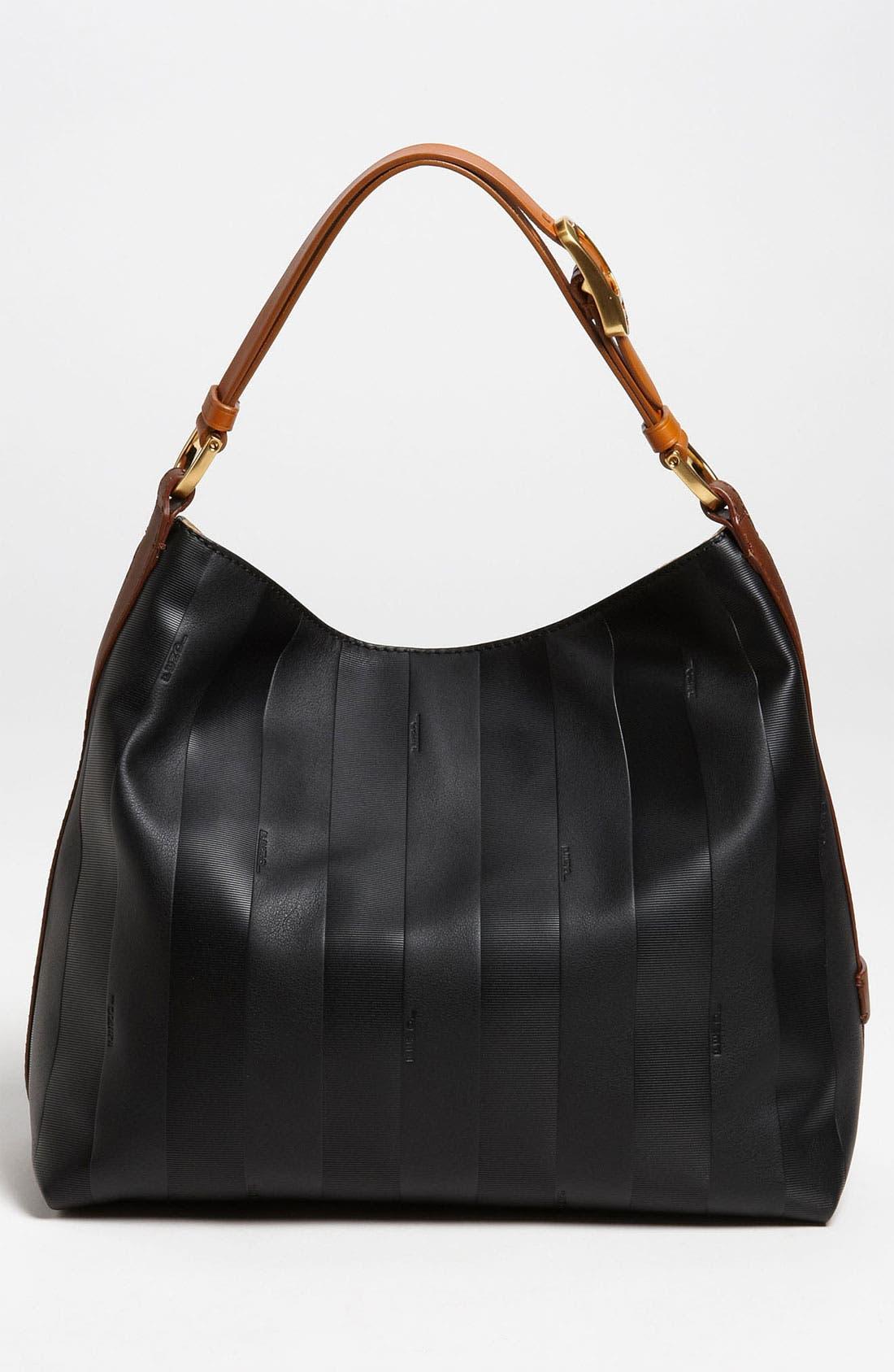 Alternate Image 4  - Fendi 'Paris Pequin - Small' Leather Hobo