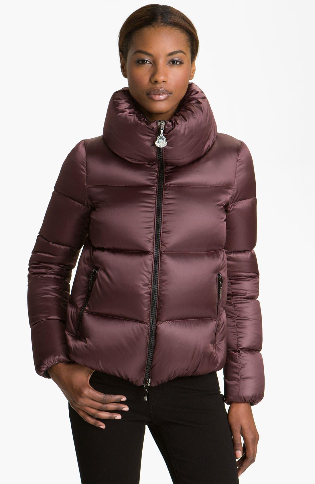 Alternate Image 1 Selected - Moncler 'Erable' Pillow Collar Down Puffer Jacket