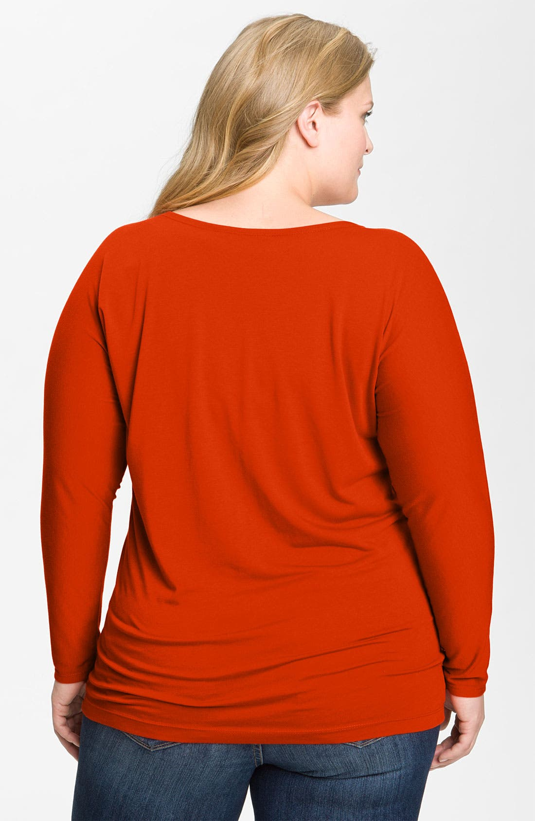 Alternate Image 2  - Nic + Zoe Long Sleeve Tunic Tee (Plus)