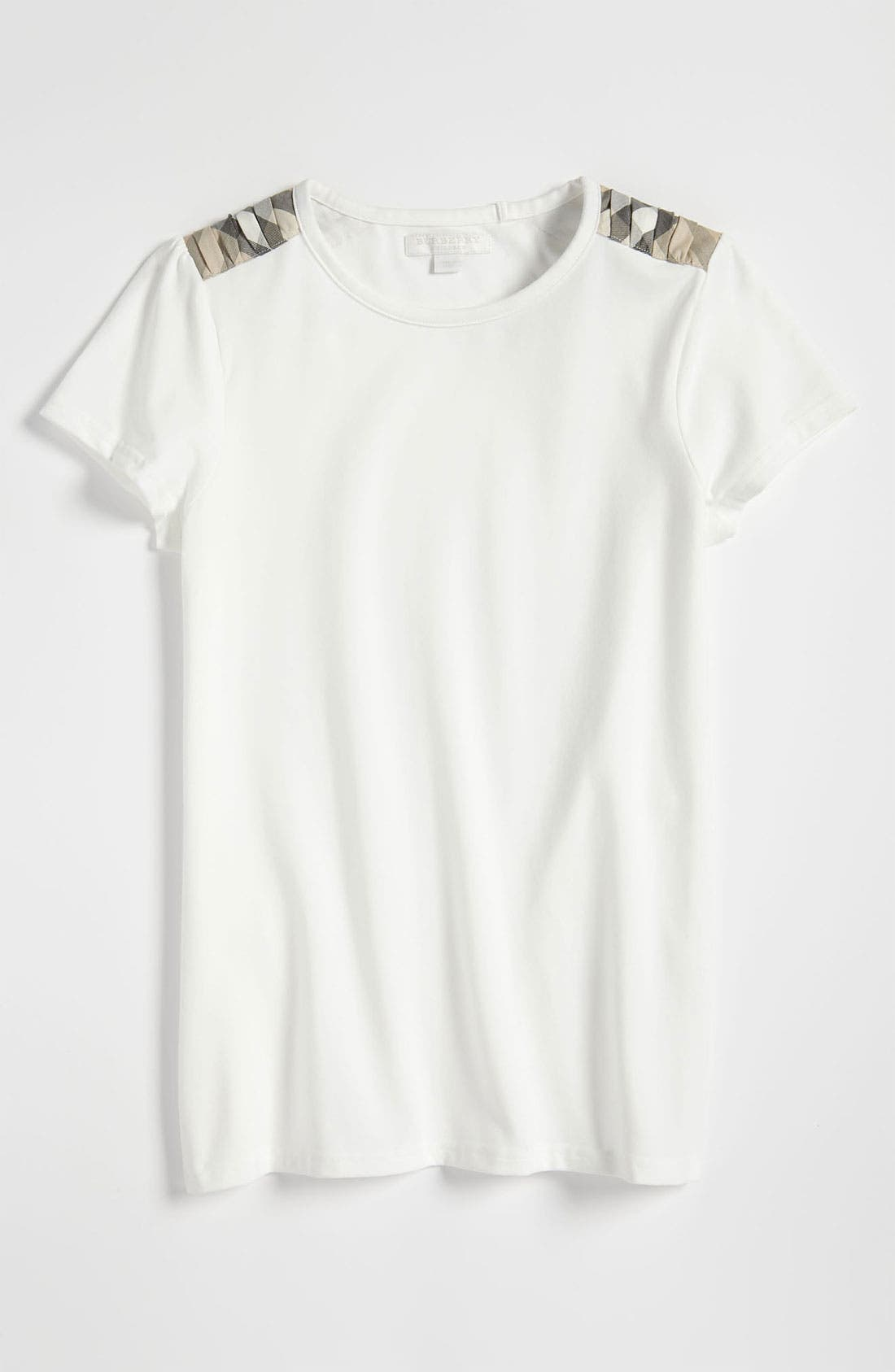Alternate Image 1 Selected - Burberry Shoulder Patch Tee (Little Girls)