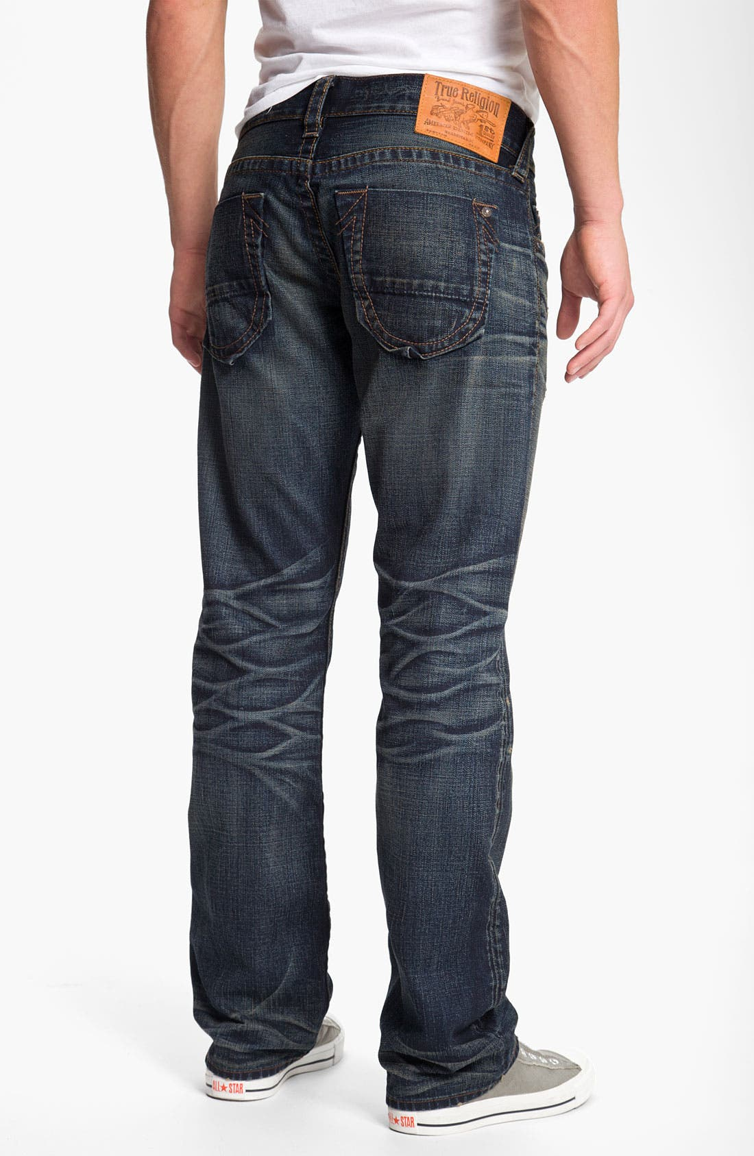 Alternate Image 1 Selected - True Religion Brand Jeans 'Bobby' Straight Leg Jeans (Snyper)