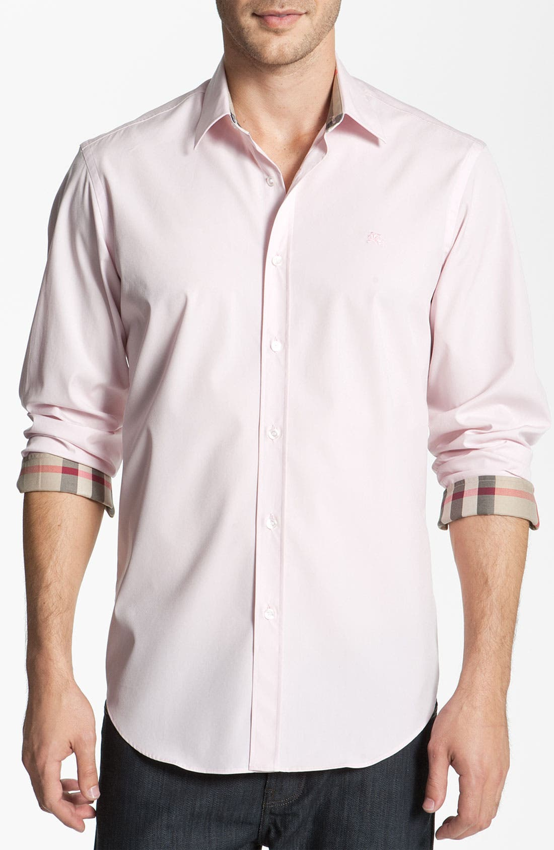 Main Image - Burberry Brit Poplin Trim Fit Sport Shirt