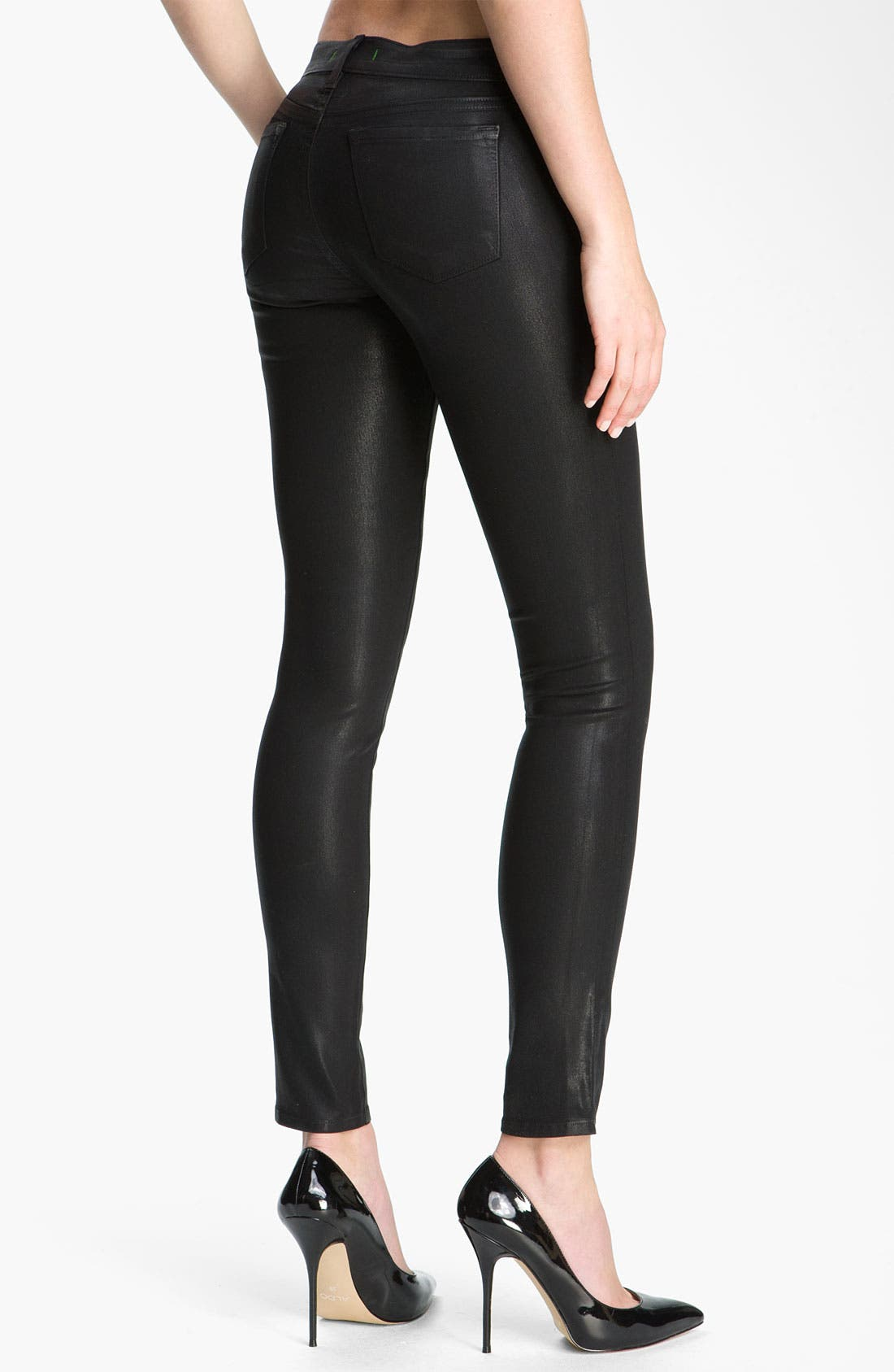 Alternate Image 2  - J Brand 'The Legging' Coated Stretch Jeans (Stealth)