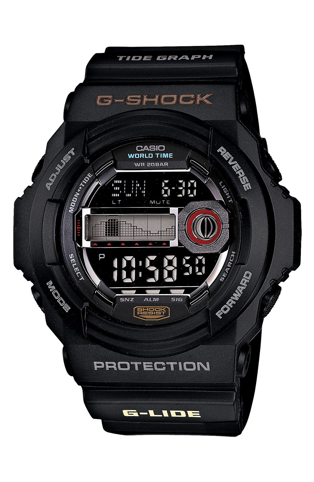 Main Image - G-Shock 'Tidegraph' Digital Watch, 55mm x 52mm