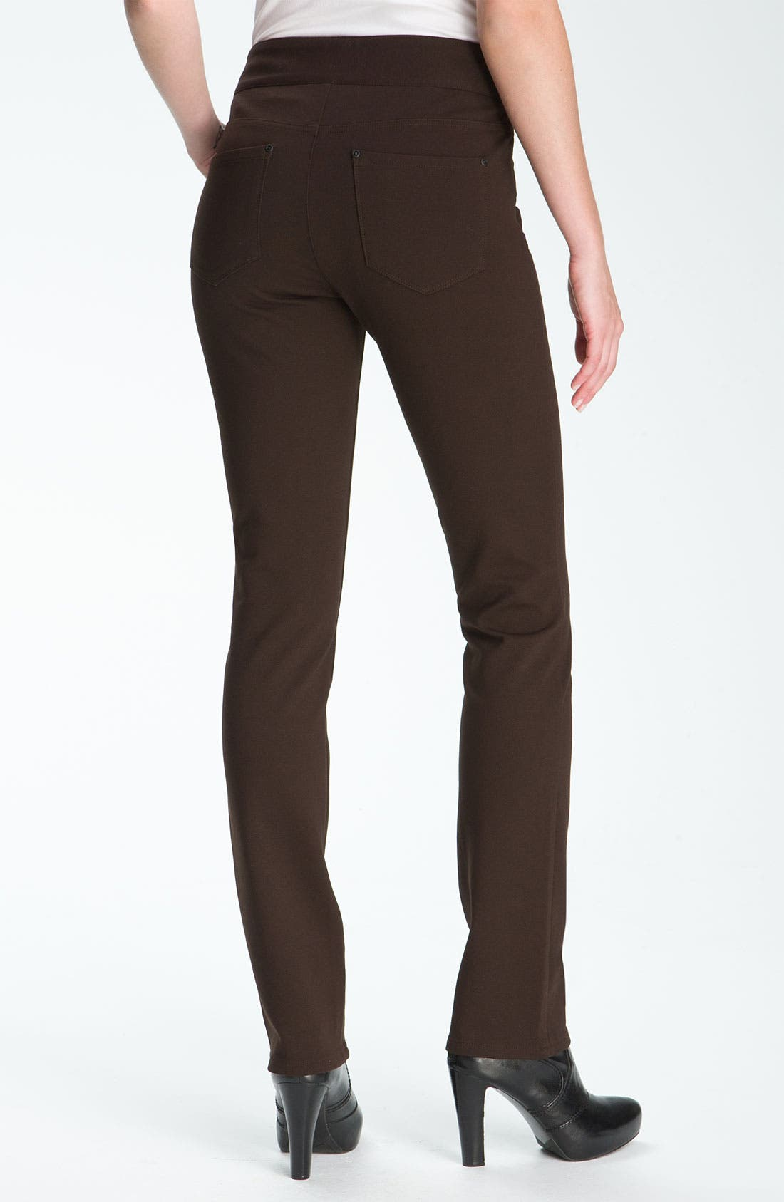 Alternate Image 1 Selected - NYDJ 'Natasha' Skinny Ponte Pants (Petite)