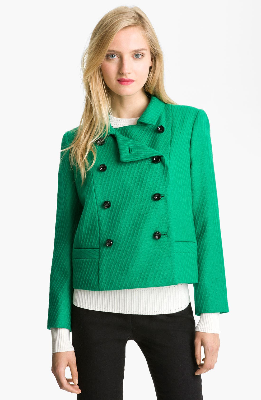 Main Image - Milly Crop Wool Jacket