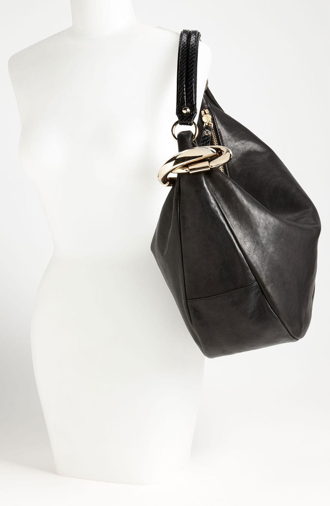 Alternate Image 2  - Jimmy Choo 'Large Solar Calf' Leather Hobo