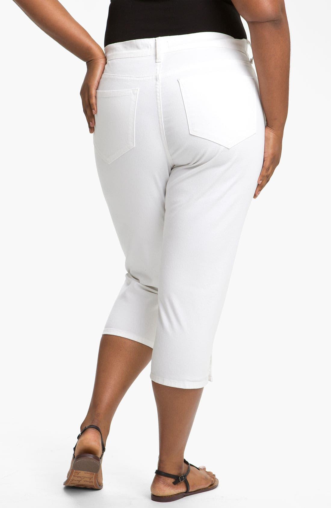 Alternate Image 2  - NYDJ 'Sammie' Crop Stretch Jeans (Plus Size)