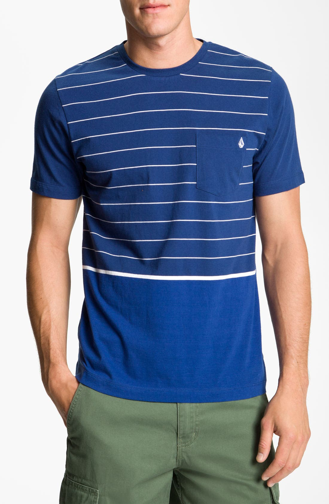 Alternate Image 1 Selected - Volcom 'Primer' Stripe Print Organic Cotton T-Shirt